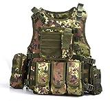 YAKEDA® Hinchas del ejército chaleco táctico Swat Cs campo táctico del ejército del chaleco del chaleco al aire libre Cs del juego del chaleco de Cosplay del juego Counter Strike Vest-322 (Italia camuflaje)