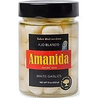 AMANIDA GOURMET - Ajo Blanco - muy suave y sin olor - tarros de 300 g (Pack de 6)