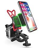 Vena Universale Handy-Smartphone Halterung [+ Integriert mit Kamerahaltung] Halter für Fahrrad, Motorrad, Moped, Roller[ 360° drehbar] [6-Fach magnetische Halterung] für iPhone X/8 Plus/8, Samsung Galaxy Note 8/S8 Plus/S8/S9 Plus/S9, GoPro Hero 3/4/5/6 Sjcam/Xiaomi YI