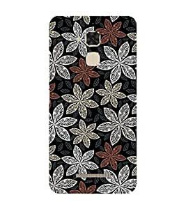 99sublimation vedic pattern flowers neat and simple design Designer Back Case Cover for Asus Zenfone 3 Max ZC520TL (5.2 Inches)