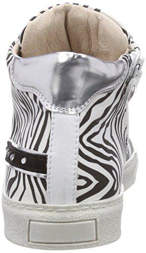 Andrea Hohe St raso zebr Weiß Morelli bianco Mädchen Sneakers rUrzn