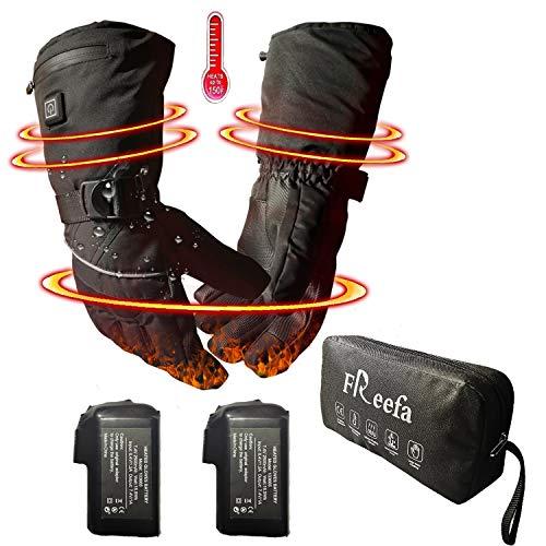 Decyam guanti riscaldati elettrici invernali con batteria ricaricabile agli ioni di litio, guanti termici isolanti impermeabili, guanti termali artritici per uomini e donne