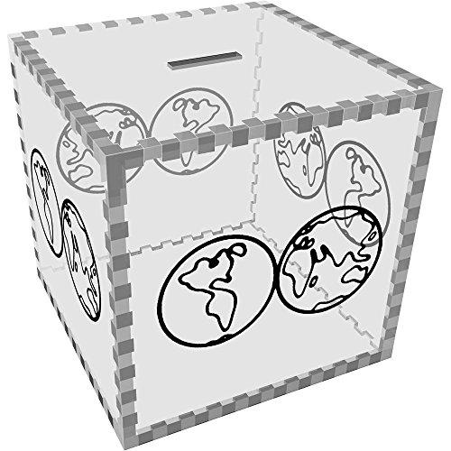 Azeeda Grande 'Mapa Mundo' Caja Dinero / Hucha MB00059866