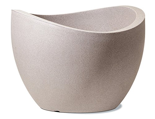 Scheurich - Wave Globe, Vaso Effetto Granito, Beige (Taupe-Granit) Ø 30 cm, Altezza: 22 cm