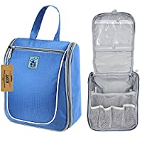 DCCN Travel Toiletry Bag With Hanging Hook Bathroom Cosmetic Organizers Portable Wash Bag(Blue)