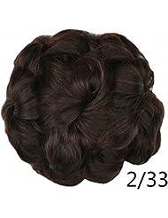 PrettyWit Postiches court cheveux bouclés Extension Accessoires pour les  femmes Chignon cheveux Updo Extensions cheveux Chignons
