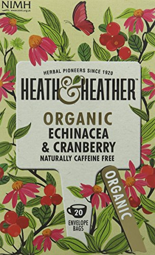 A photograph of Heath & Heather organic echinacea and cranberry