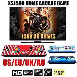 Lamptti XS1500 Home Arcade-Spielekonsole – Angepasste Schaltflächen, 1080720 Full HD, 1500 Programme, Sammelspiele , Kompatibel mit HDMI und VGA
