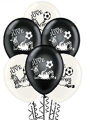 Idea Regalo - ocballoons Palloncini Bianco Nero Forza Juve Compleanno conf.20pz