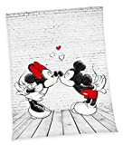XXL Disney Mickey Mouse Minnie Mouse Fleece Blanket 150 x 200 cm Microfibre Fleece Blanket Throw, New by Herding