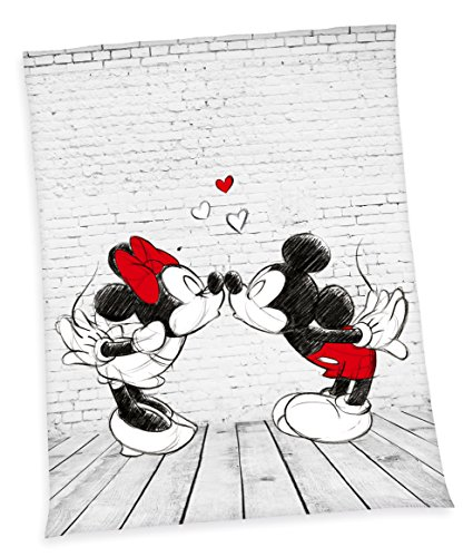 XXL flojel techo Disney Mickey Mouse Minnie Mouse Manta - Manta (150 x 200 cm, microfibra...