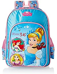 Disney Princess Blue School Bag For Children Of Age Group 3-5 Years | Size 14 Inch