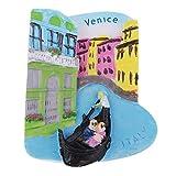 FLAMEER 3D Atracciones Mundiales Colección de Imanes de Nevera Recuerdos Turísticos - Venecia