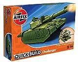 Airfix J6022 Quick Build Challenger Tank Model Railway Toy, Green