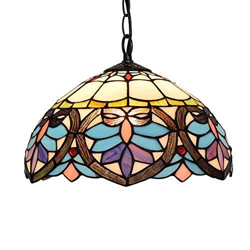 Tiffany-Stil Kronleuchter , Multicolor Glasschirm Flur Anhänger Hängelampe Light 1 Licht Unterputz Deckenleuchten For Wohnzimmer Schlafzimmer Esszimmer (12 Zoll) - Unterputz 1 Licht
