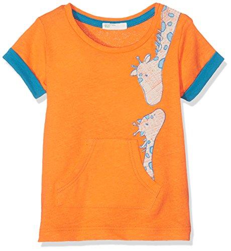 United Colors of Benetton Baby - Jungen T-shirt T-Shirt, Orange, 0-3 Monate (Herstellergröße: 56)