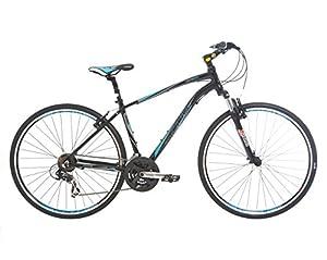 Indigo Men's Verso X1 Hybrid Bike - Black, 20-Inch