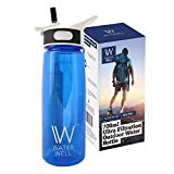 WaterWell Travel Ultrafiltration Water Bottle - Purify to Eliminate 99.9% of Waterborne Pathogens - 1000 Litre Lifespan // 700ml Capacity Version -- (UPDATE: APRIL 2018 - Product improvements include stronger plastic lever, faster filter flow rate and BPA-free leak-proof reinforced tritan plastic body)