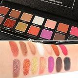 lidschatten palette Vovotrade Mehrfarbig Schimmern Matt Lidschatten Auge Schatten Palette Kosmetik Bürste einstellen (14 Colors)