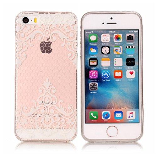 Pheant® Apple iPhone SE/5S/5 Coque Gel Transparent Cas en TPU Soulple Silicone Couleur-04