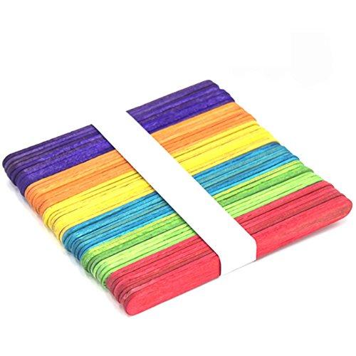 Farbige Handwerk Stick Naturholz Popsicle Sticks Für DIY Handwerk Kreative Designs Halloween Weihnachten Geschenk 100 Stücke