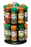 Premier Housewares Présentoir à épices à 2 étages avec 16 Pots d'épices Schwartz Noir