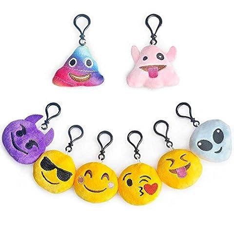 Emoji porte-clés Party Bag Fillers, Runhome Lot Porte clés Emoji
