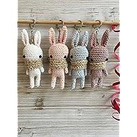 Porte clé lapin, Porte clé crochet, Porte clef amigurumi, lapin porte clés, Bijou de sac, cadeau mignon, porte-bonheur, mini-lapin