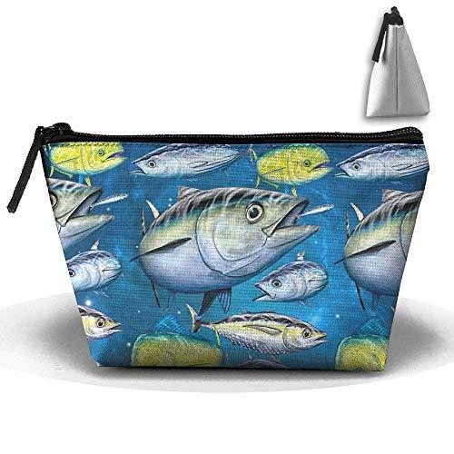 Thunfisch und Mahi Mahi Stift Briefpapier Federmäppchen Kosmetik Make-up Tasche
