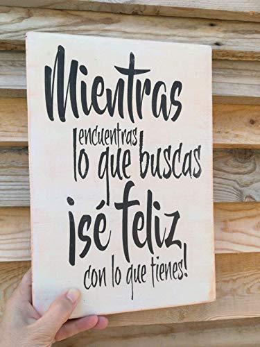Cartel de Madera Con Frases motivadoras