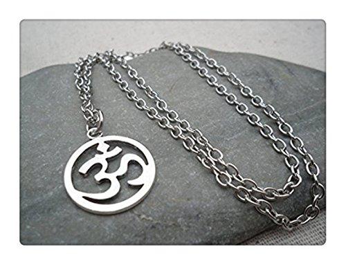 Collana argento con ciondolo Om peryoga e meditazione