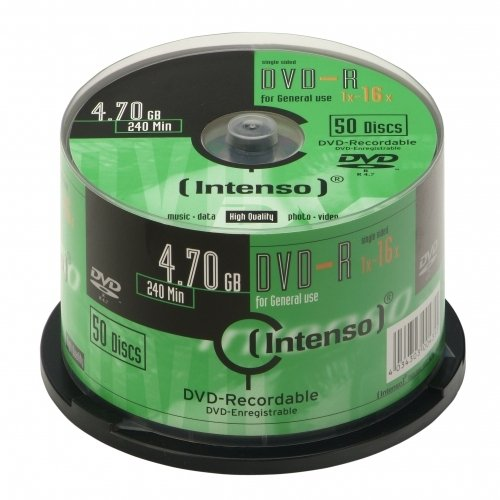 Blank DVD-R 4.7 GB Intenso 4101155 50 pc(s) Spindl lowest price
