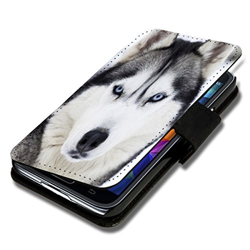 Book Style Flip Handy Tasche Case Schutz Hülle Schale Motiv Etui für Apple iPhone 6 - 4,7 Zoll - Flip 1A38 Design1 Design 1
