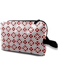Peru Texture Flag Toiletry Bag Multifunction Cosmetic Bag Portable Makeup Bag Waterproof Travel Hanging