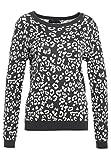 Even&Odd Strickpullover Damen mit Muster - Pullover In Dunkelgrau, XL