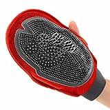 ASOCEA Fellpflege-Handschuh Haar-Entferner, doppelseitig, für lange oder short-hair für Hunde, Katzen, Pferde und andere Tiere