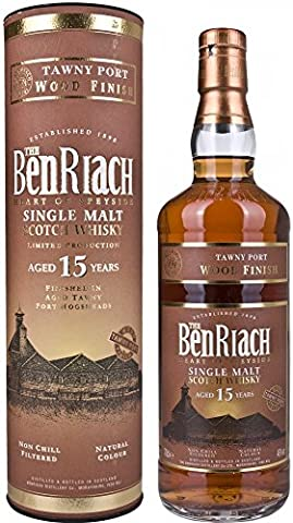 Benriach Aged Tawny Port Finish 15 Year Old Single Malt Scotch Whisky 70 cl