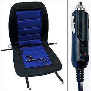 si ge chauffant voiture bleu et noir 12 v. Black Bedroom Furniture Sets. Home Design Ideas