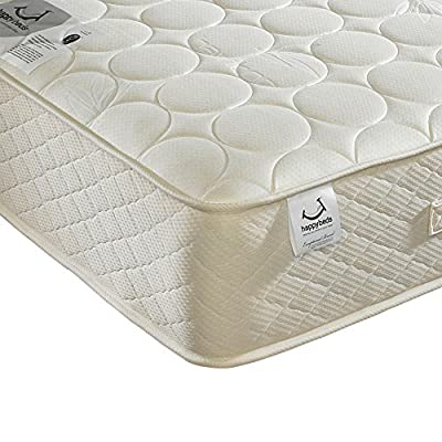 Happy Beds Mirage Natural Wool Bonnell Spring Quilted Mattress - inexpensive UK light shop.