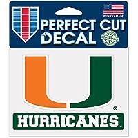Wincraft NCAA University of Miami 4,5 x 5,75 WCR50887014 Perfect Cut Color Aufkleber Florida