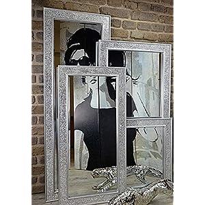 Livitat® Wandspiegel 120 x 60 cm Spiegel Mosaik Badspiegel mit Glasmosaik Crackle LV9051