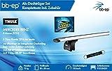 BB-EP/Thule 9131354251 Premium Alu-Dachträger-Set für MERCEDES BENZ E-klasse (S213) 5 Türer Kombi 2016 bis heute - Komplettset mit Aluminium Traverse silber - Inkl. BB-EP Schlüsselband und Insect Erase