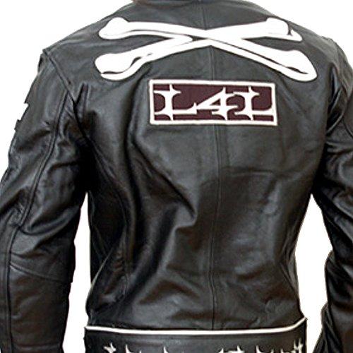 Livin4limit Motorradjacke Leder 4Limit Sports Crossbones Biker Motorrad Jacke Lederjacke, Schwarz, Größe L