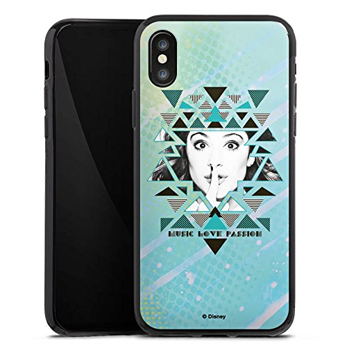 Apple iPhone X Silikon Hülle Case Schutzhülle Disney Violetta Fanartikel Merchandise Silikon Case schwarz