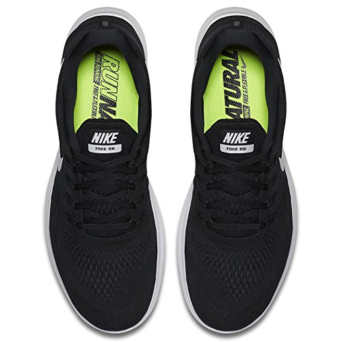 Nike Free Rn, Chaussures de Running Compétition Homme Noir (Nero/Bianco)