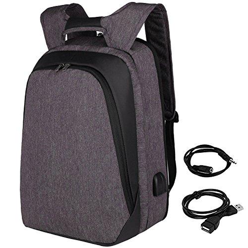 90ebc8493698db Zaino per laptop da lavoro,Zaino Per PC, Zaino Uomo con porta USB,Zaino  Porta PC 15.6-17 Pollici Impermeabile per Università Scuola Business  Viaggio- ...