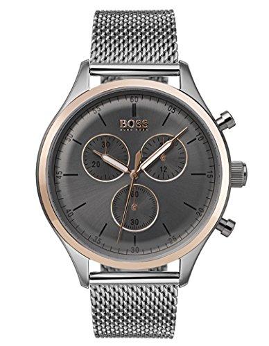 Hugo BOSS Reloj Cronógrafo para Hombre de Cuarzo con Correa en Acero Inoxidable 1513549