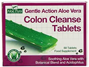 Gentle Action Aloe Vera Colon Cleanse Tablets 60