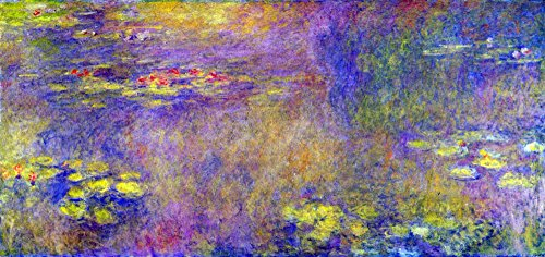Das Museum Outlet - Seerosen - (Yellow nirvana) by Monet - Leinwand (61 x 45,7 cm) Nirvana Textil