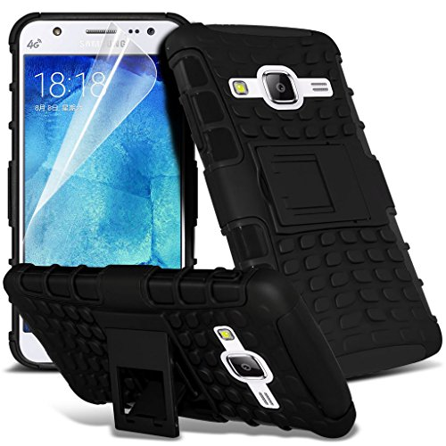 Hülle für Samsung Galaxy J5 / Samsung Galaxy J5 SM-J500F Case Universal Car Phone Halter Halterung Cradle-Dashboard & Windschutz für iPhone yi -Tronixs Shock proof (Black)
